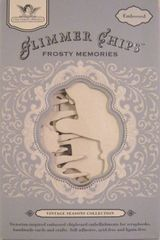 Tattered Angels Embossed Glimmer Chips Frosty Memories (Vintage Seasons Collection)