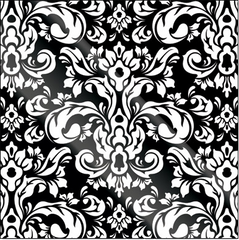 Creative Imaginations Black Flourish (Bazaar Noir Collection)