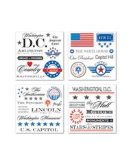Creative Imaginations Washington DC Swatchpack Impress-ons
