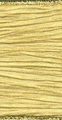 Kirkland Ribbon 2.5 Inch Gold Crinkled Wired Edge Ribbon