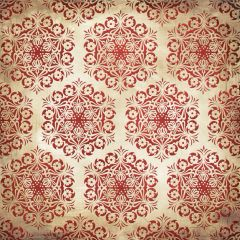 Creative Imaginations Red Medallion (Winter Woodland Collection)