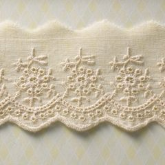 Webster's Pages 2.5 Inch Natural Western Eyelet Trim (Western Romance Collection)
