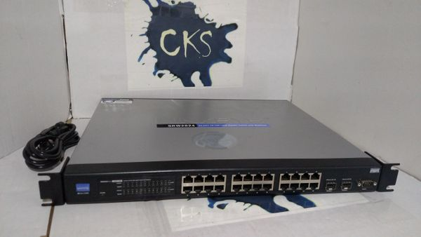 ( Sold Out ) CISCO SRW2024 24-PORT 10/100/1000 GIGABIT SWITCH WITH WEBVIEW VER. 1.2 BUSINESS SERIES ( Refurbished )