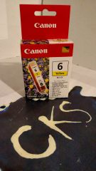 ( Sold Out ! ) CANON 6 YELLOW BCI-6Y FOR (New In Box) Genuine Canon ( Refurbished )