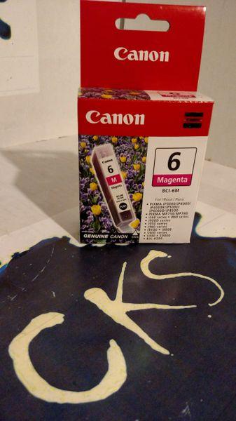 ( Sold Out ! ) CANON MAGENTA 6 BCI-6M FOR PIXMA (New In Box) Genuine Canon