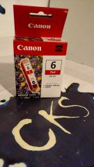 ( Sold Out ! ) CANON RED 6 BCI-6R FOR PIXMA Ip8500 I9900 (New In Box)