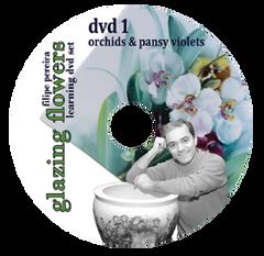 sku#7100 Orchids & Pansy Violets #1 - DVD - Flower