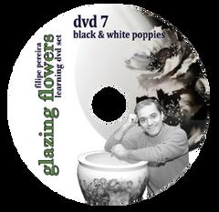 sku#7106 Black & White Poppies #7 - DVD - Flower