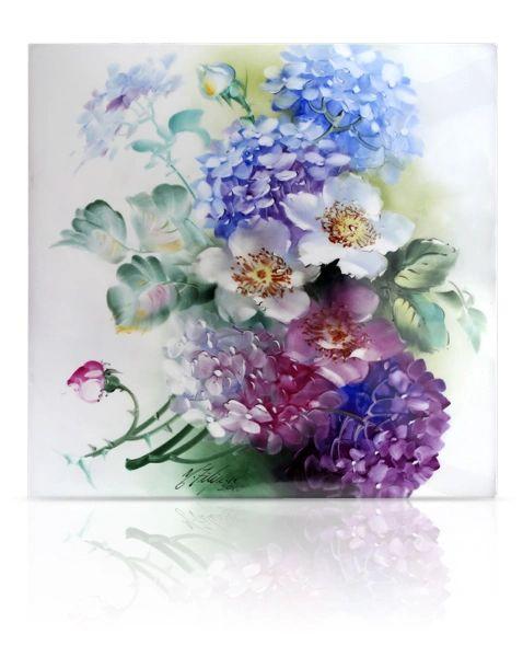 sku#6102 Wild Roses & Hydrangeas , flower study #3