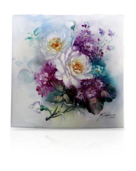 sku#6103 Roses & Violets , flower study #4