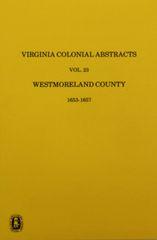 Westmoreland County, Virginia Records, Vol. 23.