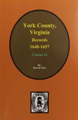 York County, Virginia 1648-1657, Records of. ( Vol. #3 )