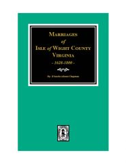 Isle of Wight County, Virginia 1628-1800, Marriages of.