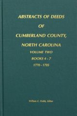 Cumberland County, North Carolina Deeds, 1770-1785. ( Vol. #2 )