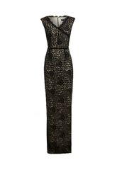 Black Cord Lace maxi Dress