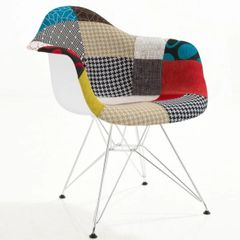 Padget Padded Arm Chair Chrome Base