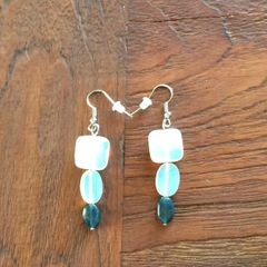 Opalite and Apatite earrings