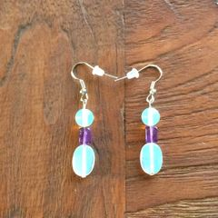 Opalite and Amethyst earrings
