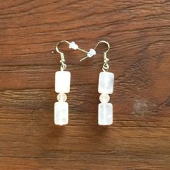 Rose Quartz Boho earrings