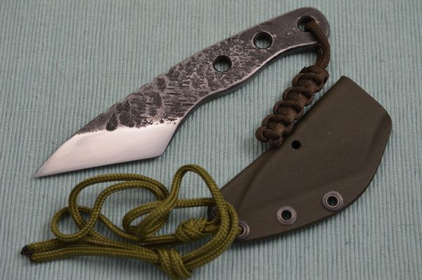 "G.H.K. ""Kiridashi"" Fixed Blade Neck Knife, Kydex Sheath"