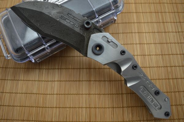 Dwaine Carrillo M6 Scout, Double Titanium Frame, Damascus Blade (SOLD)