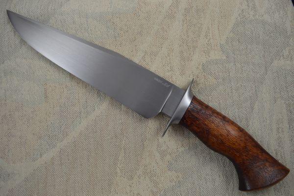 Jason Knight, M.S. Large Bowie Knife, W-2 with Hamon, Koa Wood Handle (SOLD)