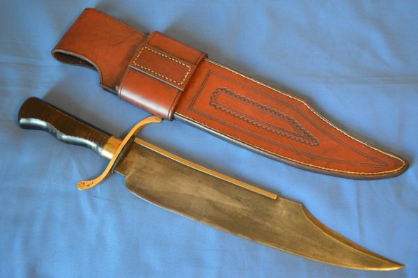 Joe Keeslar, M.S. MUSSO BOWIE Reproduction, #6 of 10, Leather Sheath (SOLD)