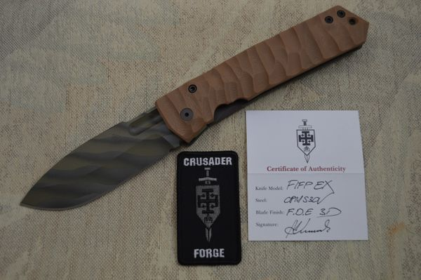 "Crusader Forge FIFP EX, ""Fear Is For Prey"" Tactical Frame-Lock Folding Knife (SOLD)"