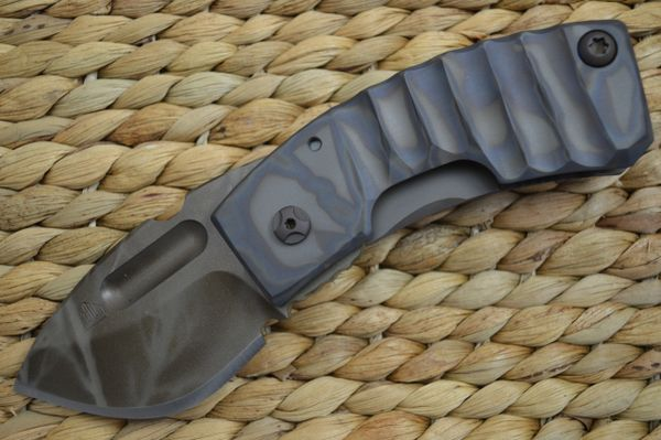 "Crusader Forge Frame-Lock ""APEX"" Drop Point Blade, Dammeron Camo and Phantom Finishes (SOLD)"