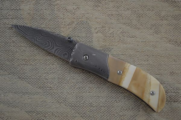 Kevin Hoffman Damascus Gentleman's Liner Lock Folder (SOLD)