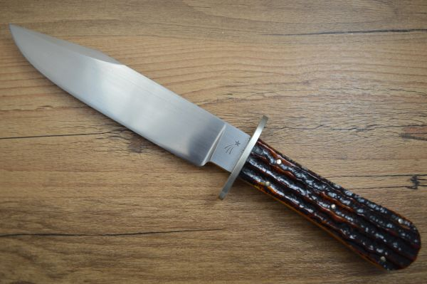"""Jim Crowell, Master Smith Small Clip Point 6"""" Blade, Bowie Knife (SOLD)"""