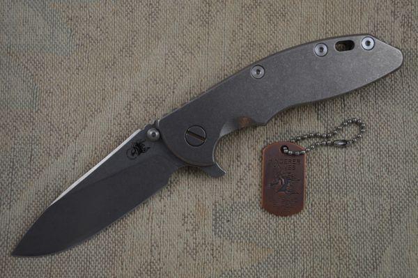 Rick Hinderer XM-18 Titanium Frame Lock Flipper, Blade Show 2014 Lottery Knife (SOLD)
