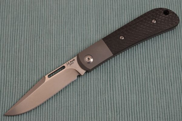 J.E. Made Slip-Joint Folder, Carbon Fiber Scales, Titanium Bolster, S35VN (SOLD OUT)