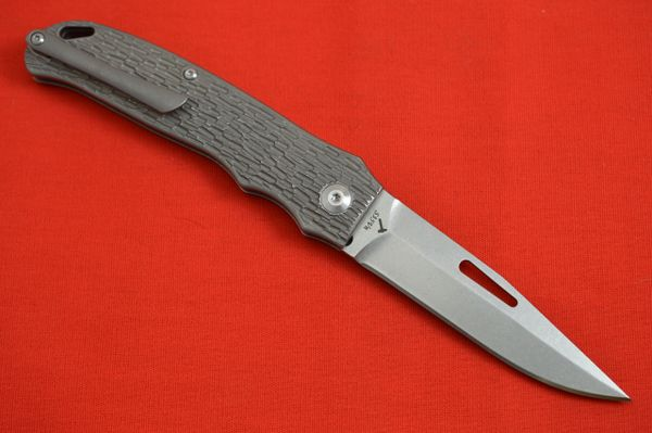 "J.E. Made ""New York Special"" Slip-Joint Folding Knife, Jigged Titanium Handle (SOLD OUT)"