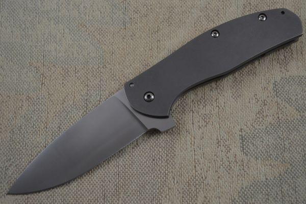 Rare Ray Laconico FOSSMINE Frame Lock Flipper, D2 Blade and Titanium Scales (SOLD)