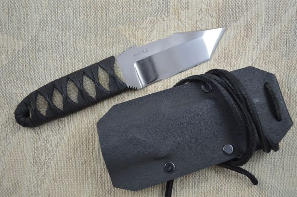 Wally Hayes Japanese-Style Stingray Cord Wrapped Tanto Neck Knife (SOLD)