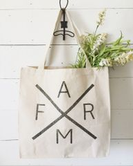 FARM® Logo Canvas Market Tote