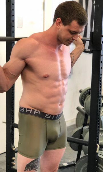 Men's Compression Shorts - OD Green