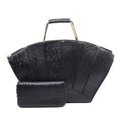 Black Ostrich Set
