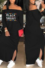 Black & Smart Dress (MORE COLORS)