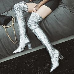Spot Light Sequin Boots