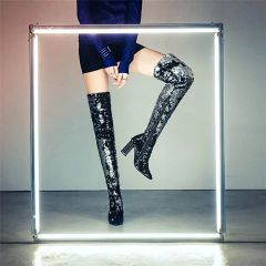 Midnight Sequin Boots