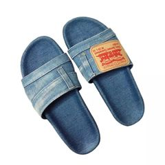 Light Denim Slides