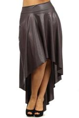Leather Hi Lo Skirt