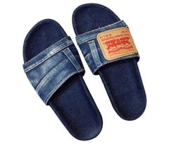 Dark Denim Slides
