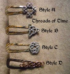 Celtic Knot Hair Clips