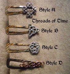 Celtic Knot Hair Clips