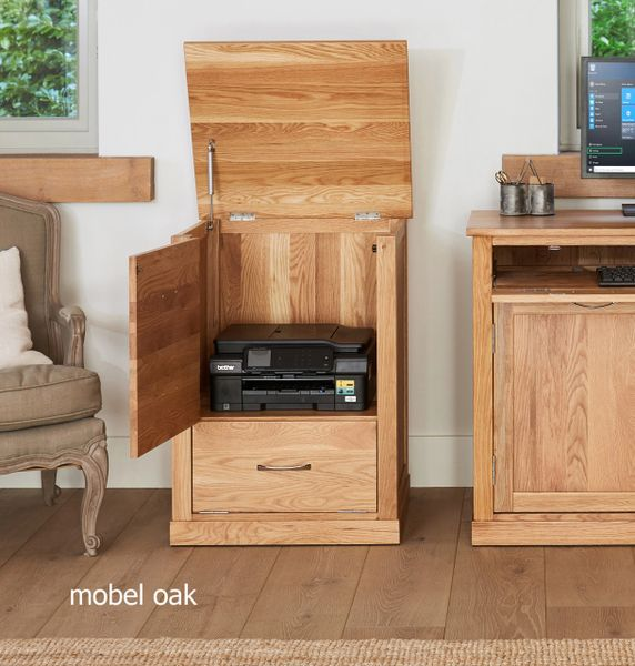 mobel oak fully assembled printer cabinet office baumhaus solid kingfisher furniture