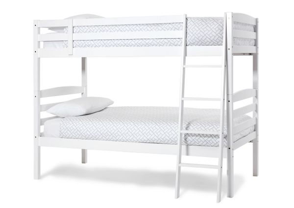 Brooke Solid Wood Bunk Beds In An Opal White Finish From Serene