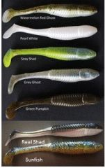 "3-1/2"" Shur-Minnow Pearl White 7ct"